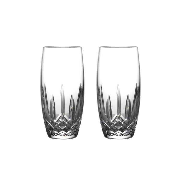 "Waterford Crystal ""Nouveau"" Set of 2 Lismore Beer Glasses"