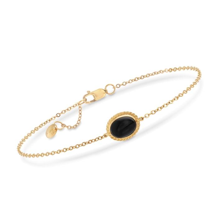 14kt Yellow Gold and Black Onyx Bracelet