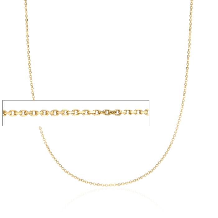 1.1mm 14kt Yellow Gold Cable Chain Necklace