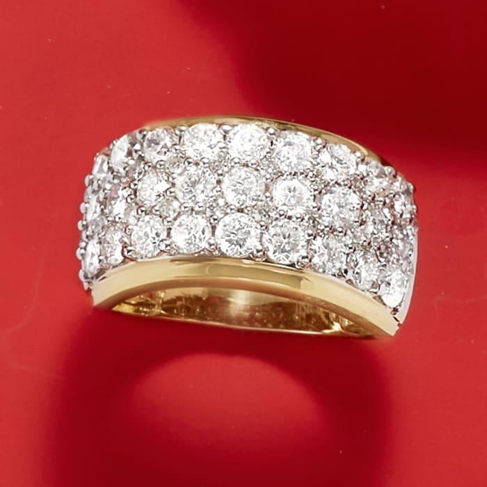3.00 ct. t.w. Diamond Multi-Row Ring in 14kt Yellow Gold