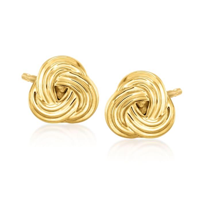 14kt Yellow Gold Love Knot Earrings