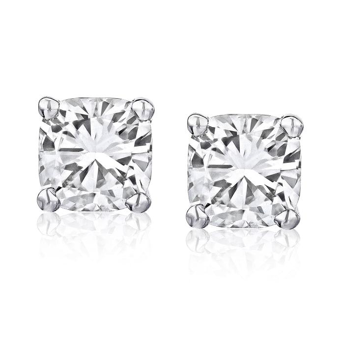 1.40 ct. t.w. Certified Diamond Stud Earrings in Platinum