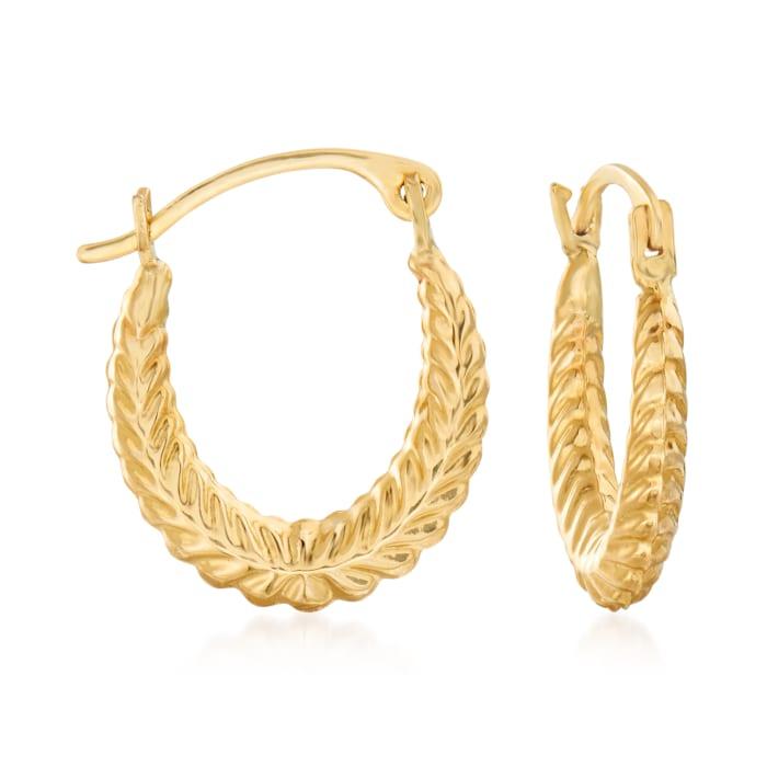 14kt Yellow Gold Jewelry Set: Three Pairs of Huggie Hoop Earrings