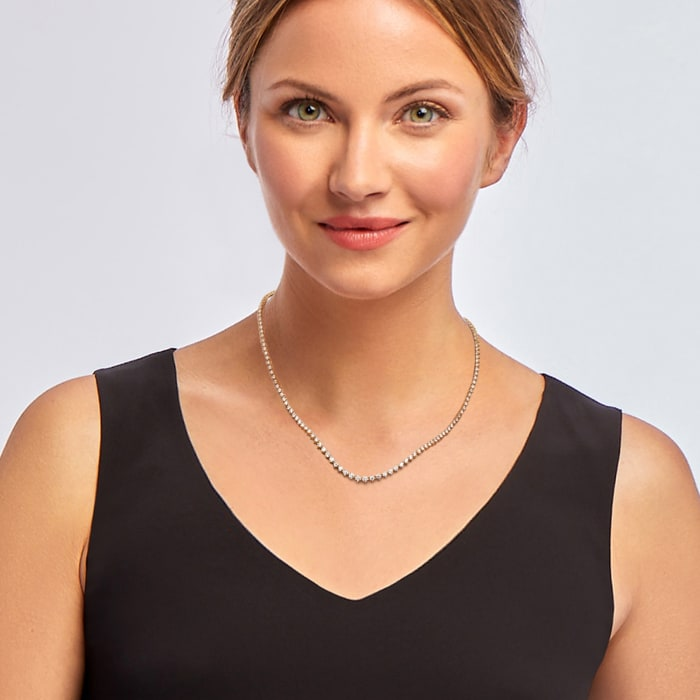 5.00 ct. t.w. Diamond Tennis Necklace in 14kt Yellow Gold 17-inch