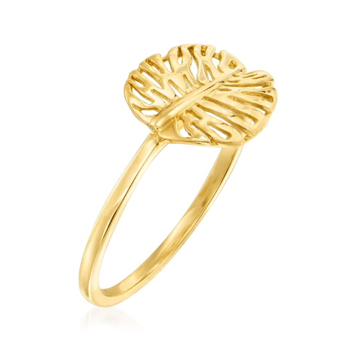 14kt Yellow Gold Palm Leaf Ring