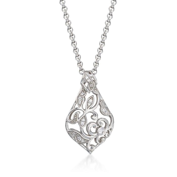 "Belle Etoile ""Empress"" .25 ct. t.w. CZ Pendant in Sterling Silver"