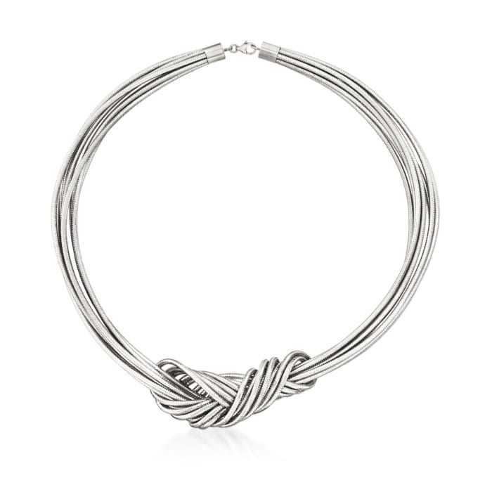 Italian Flex Knot Necklace with Sterling Silver