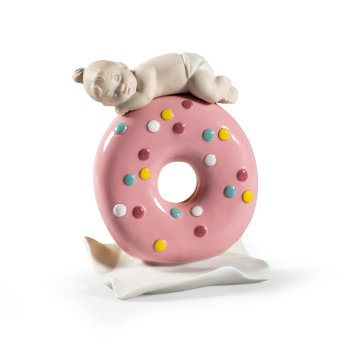"Lladro ""My Sweet Love: Baby Girl"" Porcelain Figurine"