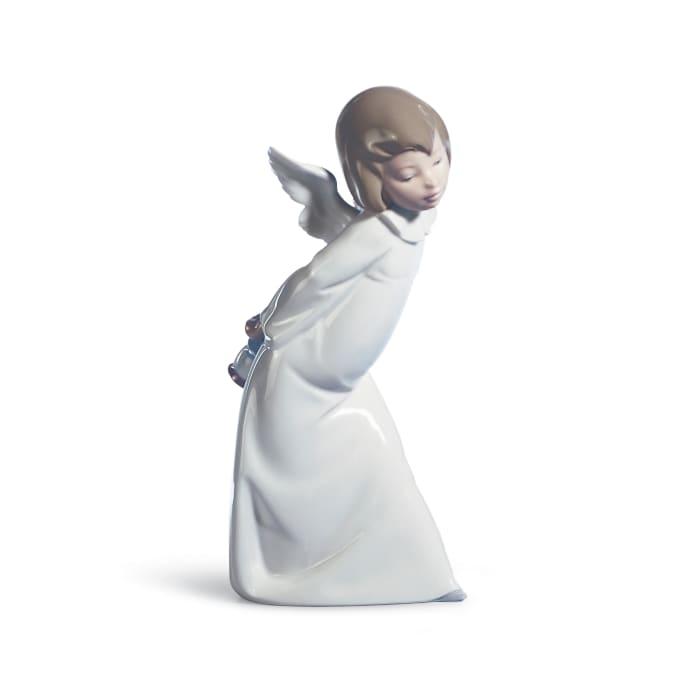 "Lladro ""Cherub Smiling"" Porcelain Figurine"