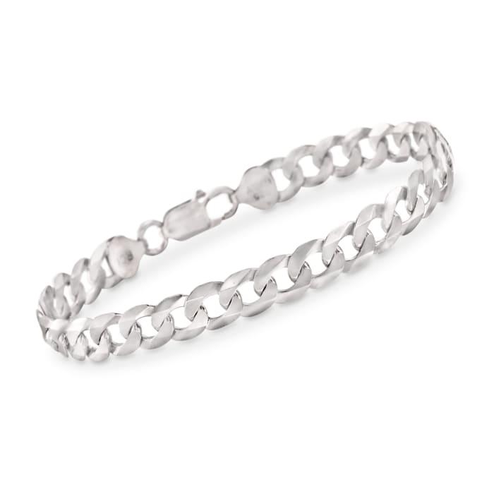 Men's 8.2mm Sterling Silver Curb Link Bracelet