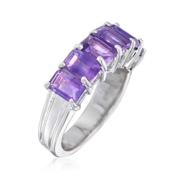 3.10 ct. t.w. Amethyst Ring in Sterling Silver