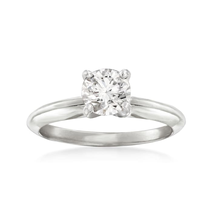.72 Carat Certified Diamond Solitaire Engagement Ring in 14kt White Gold