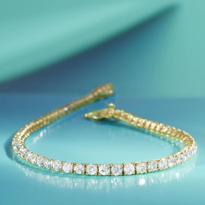 3.50 ct. t.w. Diamond Tennis Bracelet in 14kt Yellow Gold