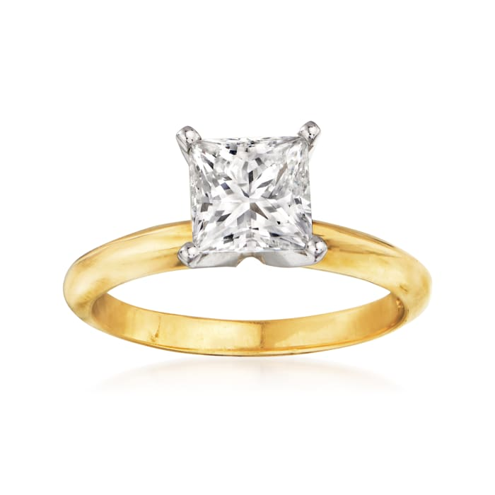 1.50 Carat Certified Diamond Engagement Ring in 14kt Yellow Gold