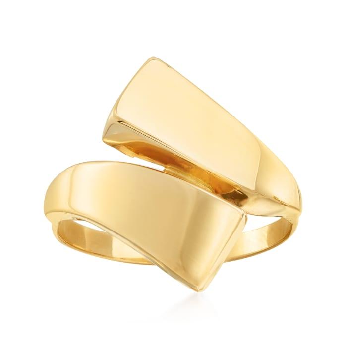 Italian 14kt Yellow Gold Bypass Ring