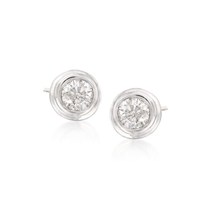 .75 ct. t.w. Diamond Double Bezel-Set Stud Earrings in 14kt White Gold
