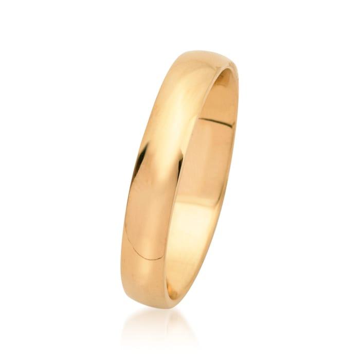Men's 4mm 14kt Yellow Gold Wedding Ring