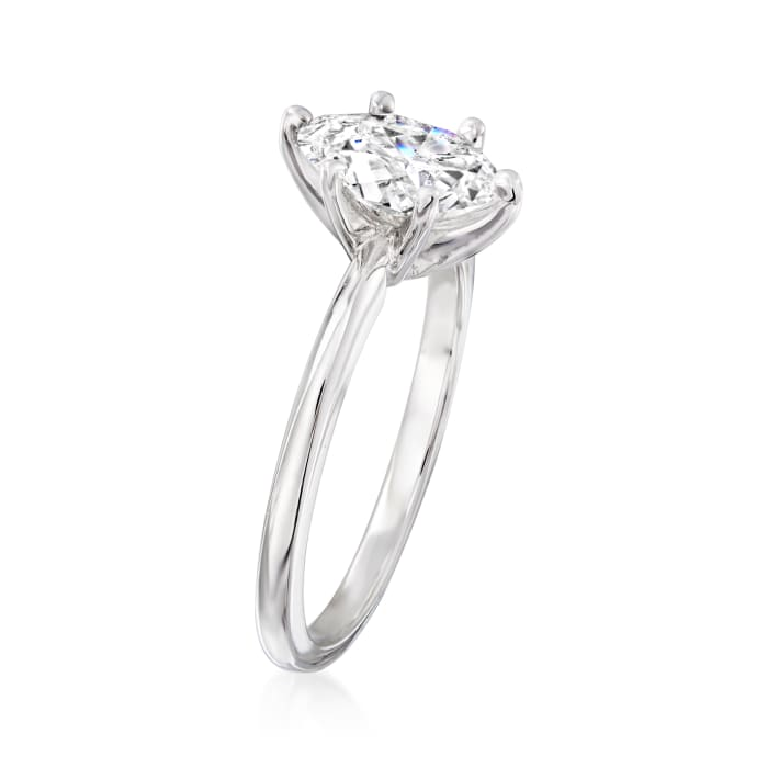 1.02 Carat Certified Marquise Diamond Solitaire Ring in 14kt White Gold