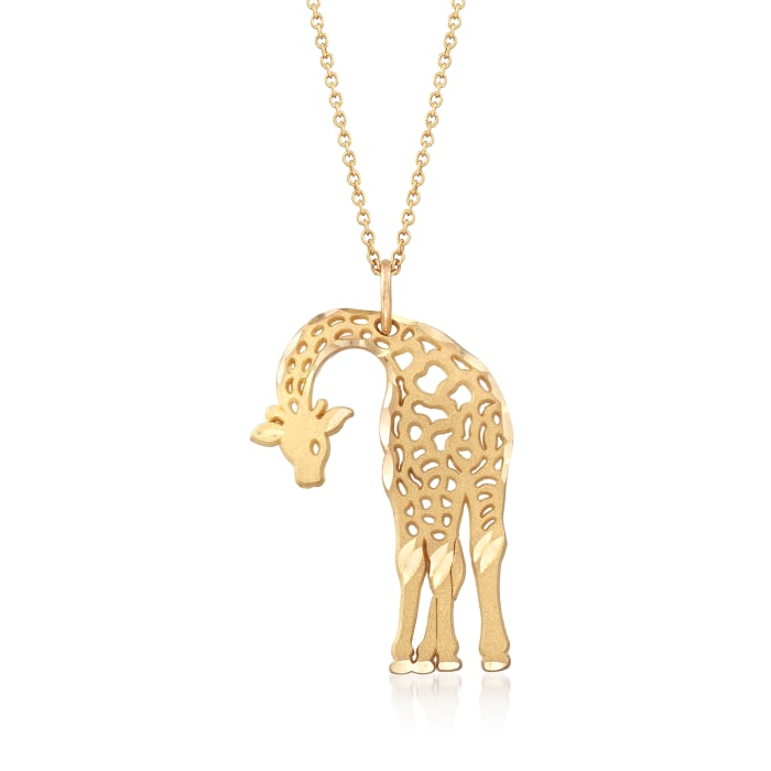 14kt Yellow Gold Giraffe Charm Necklace