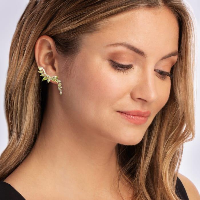 5.40 ct. t.w. Peridot Drop Earrings in Sterling Silver