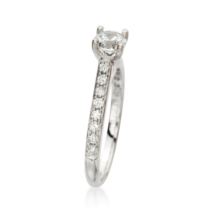 .20 ct. t.w. Diamond Engagement Ring Setting in 18kt White Gold