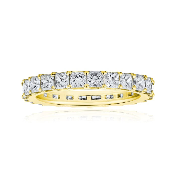 3.80 ct. t.w. Princess-Cut Diamond Eternity Band in 14kt Yellow Gold