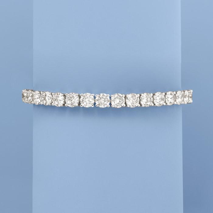 23.00 ct. t.w. CZ Tennis Bracelet in Sterling Silver