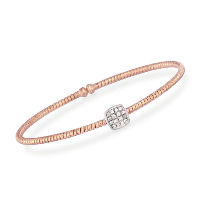 .16 ct. t.w. Diamond Square Bracelet in 18kt Rose Gold