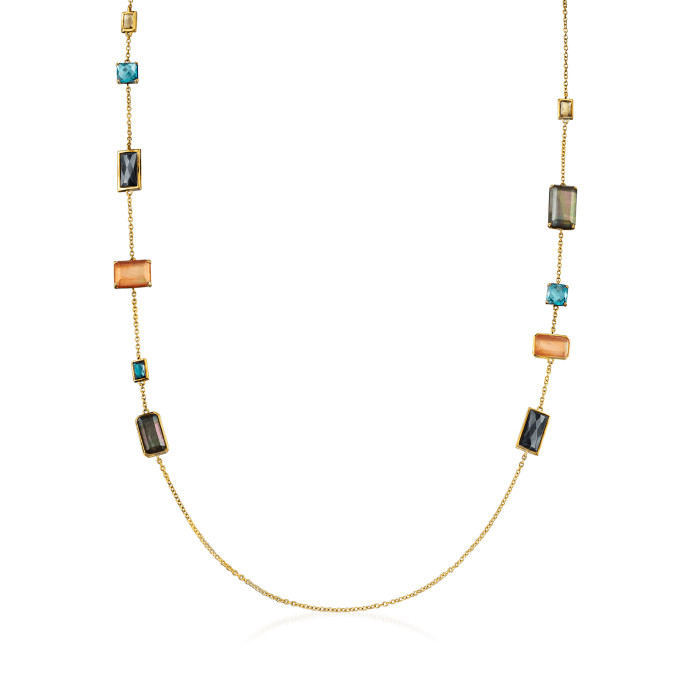 """C. 2000 Vintage Ippolita """"Rock Candy"""" Multi-Gemstone Necklace in 18kt Yellow Gold"""