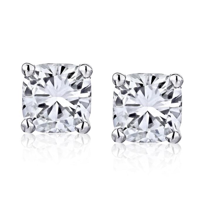 .95 ct. t.w. Diamond Stud Earrings in 14kt White Gold