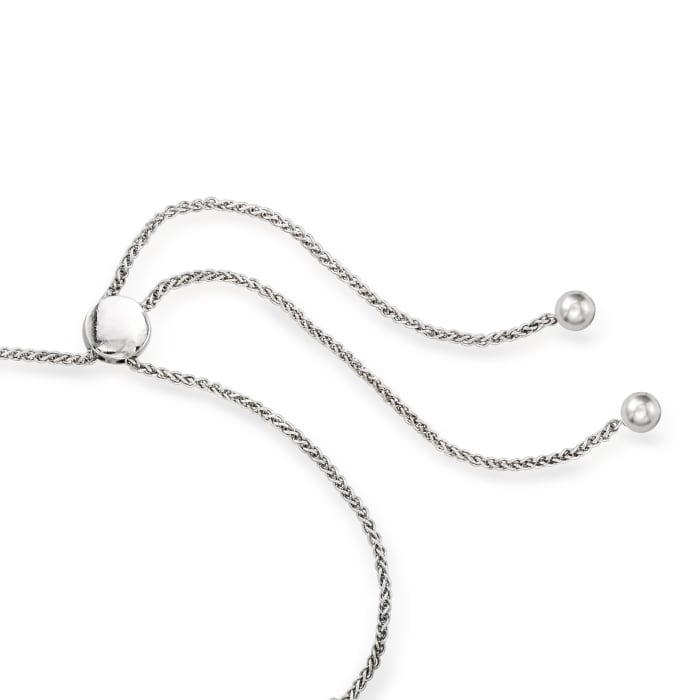 1.00 ct. t.w. Diamond Curved Bar Bolo Bracelet in Sterling Silver
