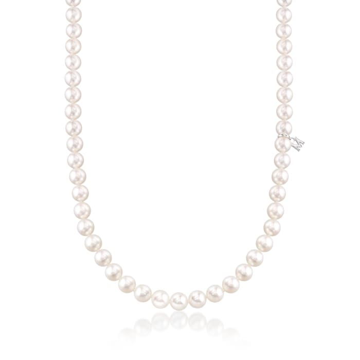 Mikimoto 6.5-7mm 'A' Akoya Pearl Necklace in 18kt White Gold