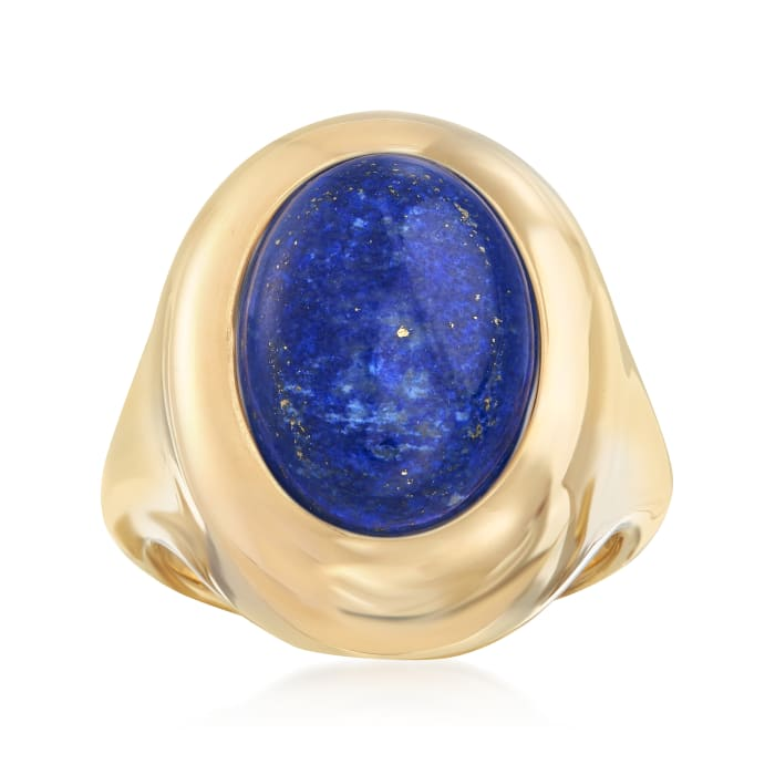 Andiamo Lapis Ring in 14kt Yellow Gold Over Resin