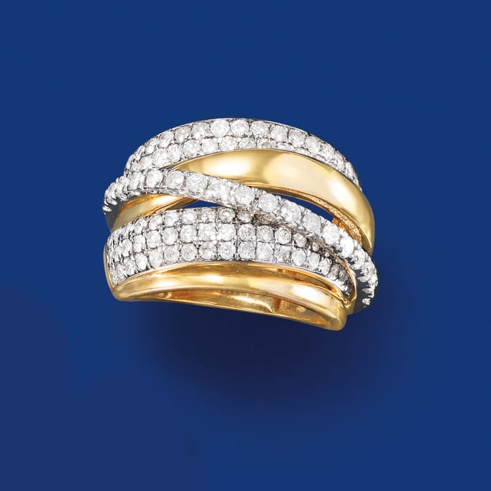 2.00 ct. t.w. Diamond Highway Ring in 14kt Yellow Gold