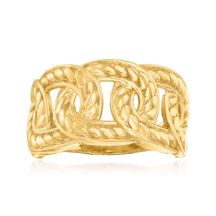 18kt Gold Over Sterling Link Ring