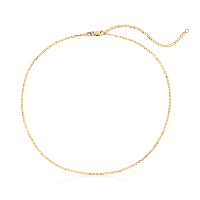 14kt Yellow Gold Lumachina Chain Choker Necklace