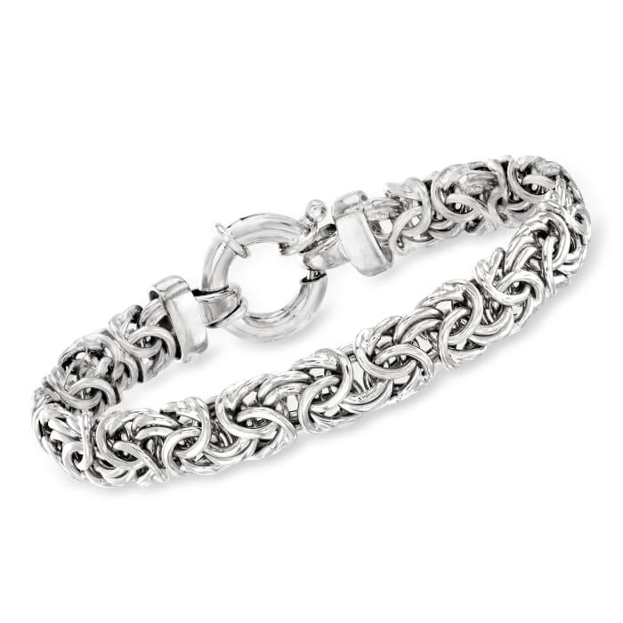 Sterling Silver Medium Byzantine Bracelet