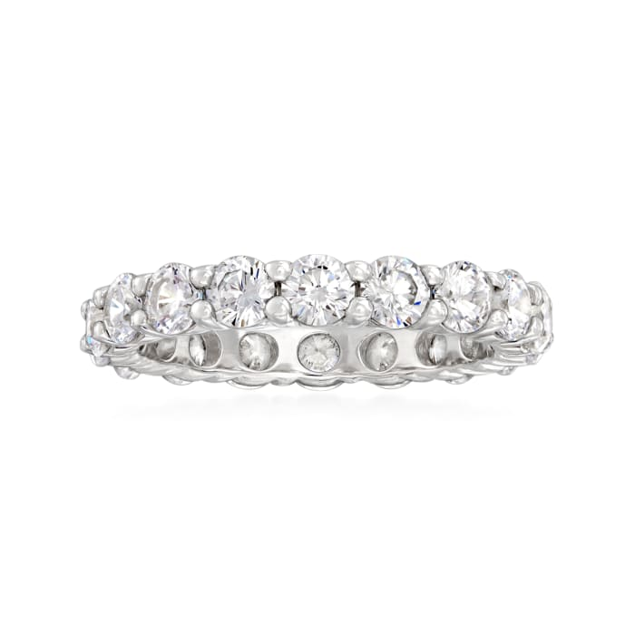 2.75 ct. t.w. CZ Eternity Band in Sterling Silver