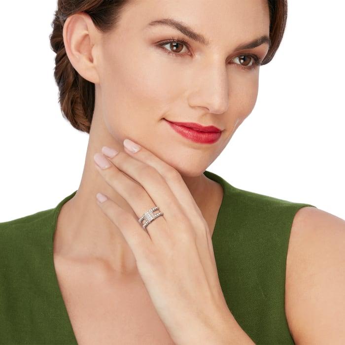 "Andrea Candela ""La Romana"" .14 ct. t.w. Diamond Ring in Sterling Silver and 18kt Gold"
