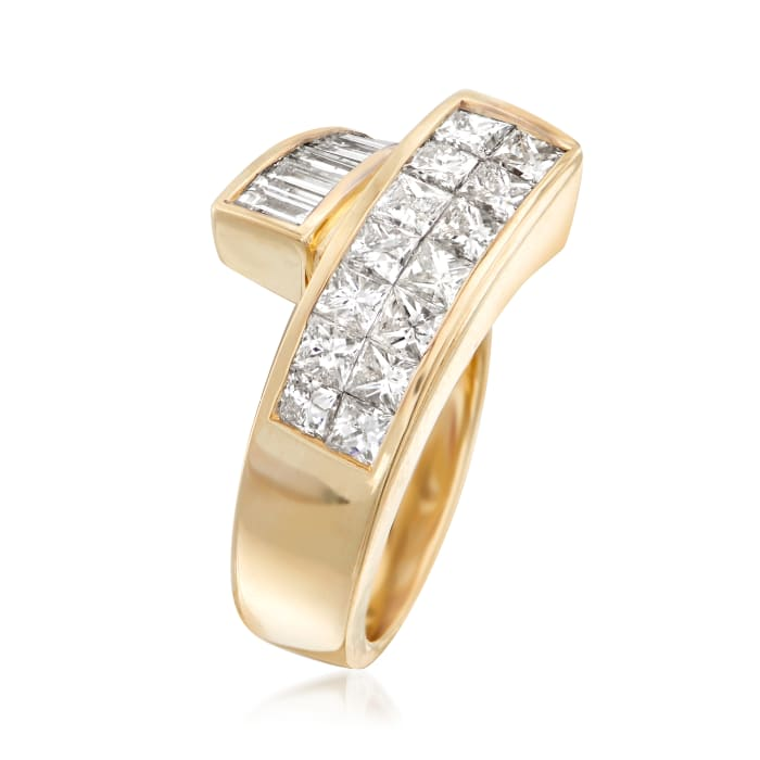 1.88 ct. t.w. Diamond Bypass Ring in 14kt Yellow Gold