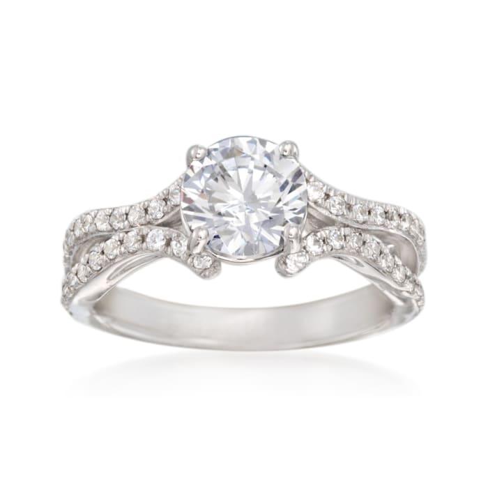 Simon G. .41 ct. t.w. Diamond Engagement Ring Setting in 18kt White Gold