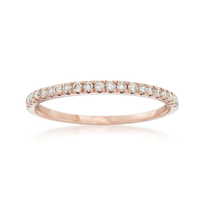 .25 ct. t.w. Diamond Stackable Ring in 14kt Rose Gold
