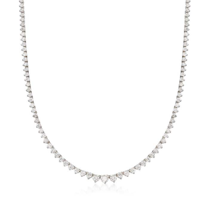 10.00 ct. t.w. Diamond Tennis Necklace in 14kt White Gold