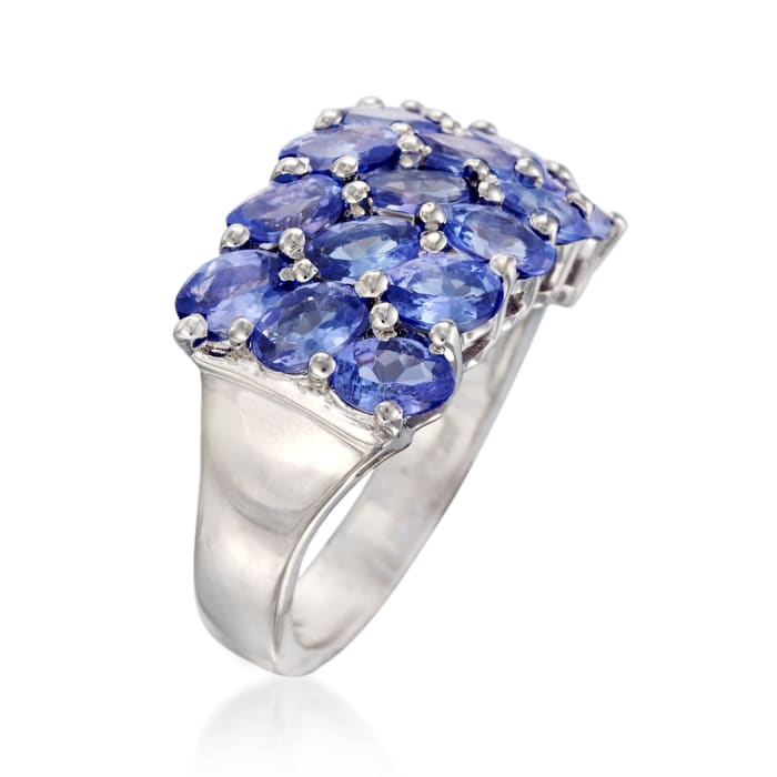 3.70 ct. t.w. Tanzanite Ring in Sterling Silver