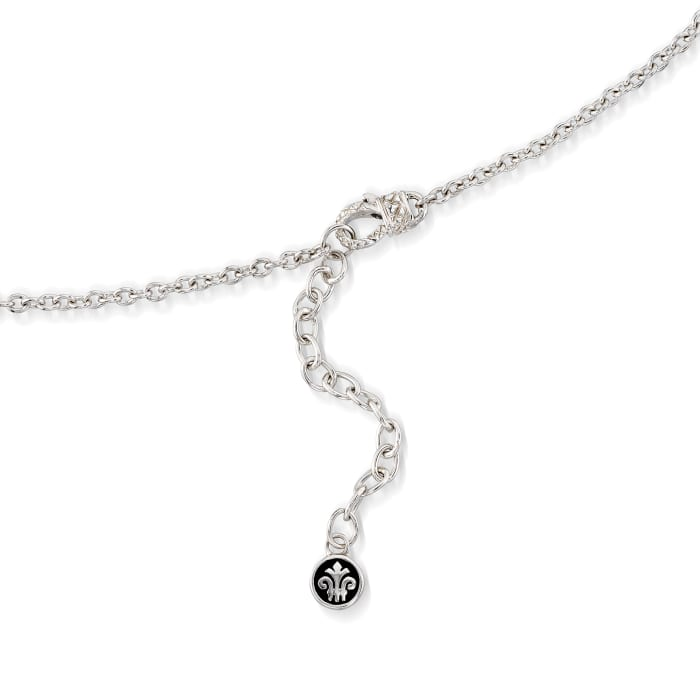 """Andrea Candela """"Fugaz"""" 4.40 ct. t.w. Multi-Gemstone and Diamond Drop Necklace in 18kt Gold and Sterling"""