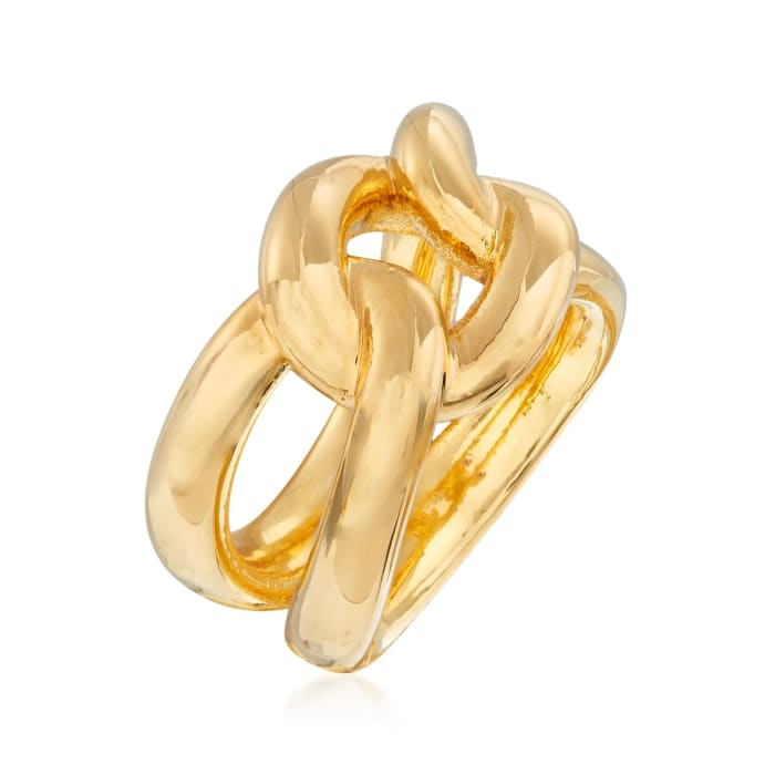 Italian Andiamo 14kt Yellow Gold Over Resin Knot Ring