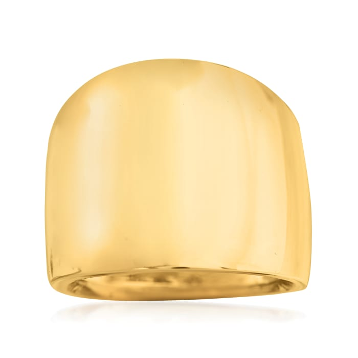 Italian 14kt Yellow Gold Wide Polished Ring