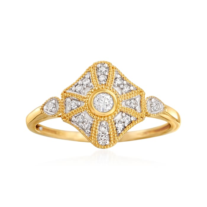 .13 ct. t.w. Diamond Ring in 14kt Yellow Gold