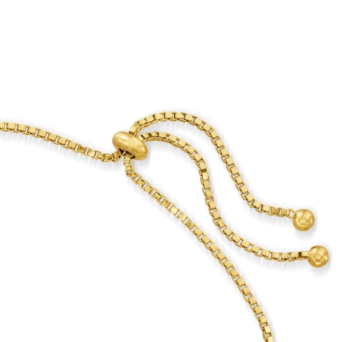 2.50 ct. t.w. Garnet Bolo Bracelet in 18kt Gold Over Sterling