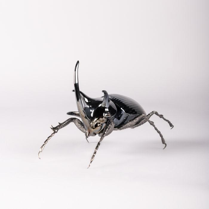 """Lladro """"Rhinoceros Beetle"""" Porcelain Figurine"""